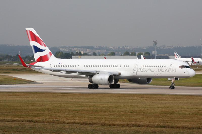 """F-GPEK Boeing 757-236 """"Open Skies"""" c/n 25808 Paris-Orly/LFPO/ORY 02-10-14"""