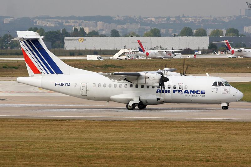 "F-GPYM Aerospatiale ATR-42-512 '""Airlinair"" c/n 520 Paris-Orly/LFPO/ORY 02-10-14 ""Air France"""