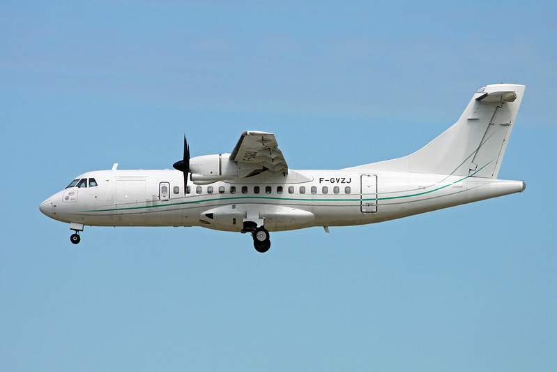 "F-GVZJ Aerospatiale ATR-42-320 ""Regourd Aviation "" c/n 093 Paris-Orly/LFPO/ORY 11-06-17"