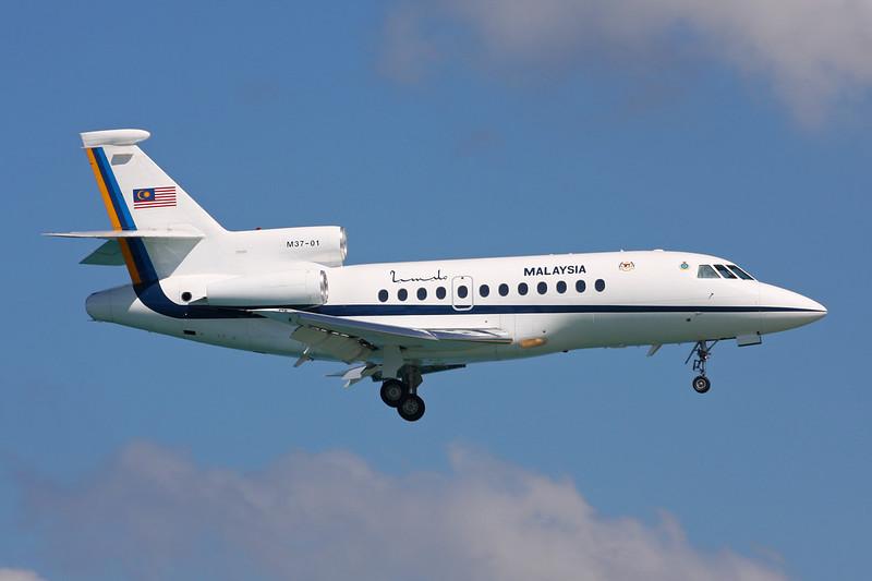 "M37-01 Dassault Falcon 900 ""Royal Malaysian Air Force"" c/n 64 Phuket/VTSP/HKT 26-11-16"