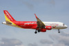 "HS-VKB Airbus A320-214 ""Thai VietjetAir"" c/n 6378 Phuket/VTSP/HKT 25-11-16 ""Amazing Thailand"""