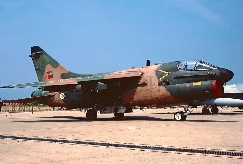 "15519 Ling-Temco-Vought A-7P Corsair II ""Portuguese Air Force"" c/n A-157 Pratica di Mare/LIRE 24-05-98 (35mm slide)"