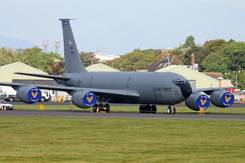 "61-0275 Boeing KC-135R Stratotanker ""United States Air Force"" c/n 18182 Prestwick/EGPK/PIK 09-09-14 ""151ARW/191ARS"""