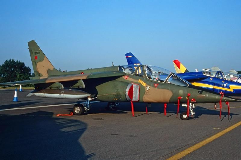 "15220 Dassault-Breguet-Dornier Alpha-Jet A ""Portuguese Air Force"" c/n 0064 Fairford/EGVA/FFD 25-07-99 (35mm slide)"