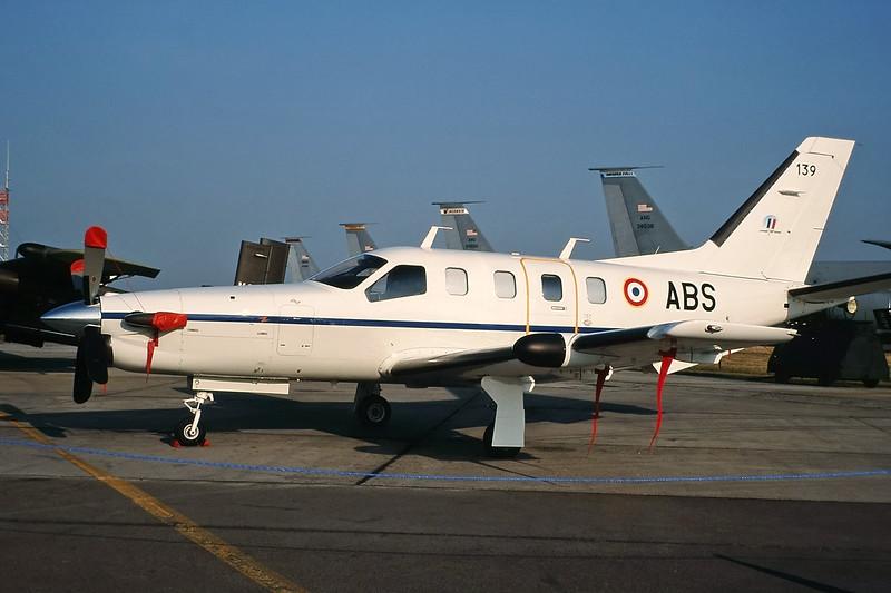 "139 (ABS) Socata TBM-700B ""French Army"" c/n 139 Fairford/EGVA/FFD 25-07-99 (35mm slide)"