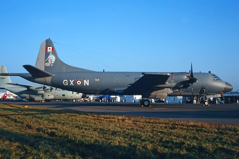 "140114 (GX-N) Lockheed CP-140 Aurora ""Canadian Armed Forces"" c/n 5719 Fairford/EGVA/FFD 25-07-99 (35mm slide)"