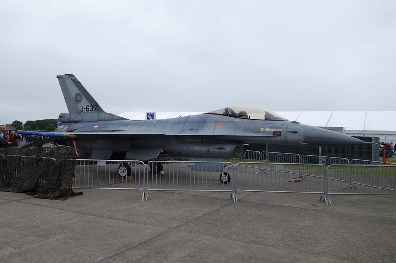 "J-637 General Dynamics F-16AM Fighting Falcon ""Royal Netherlands Air Force"" c/n 6D-69 Gilze-Rijen/EHGR 20-06-14"