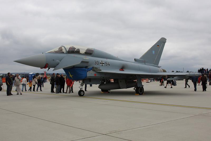 "30+54 British Aerospace EFA EF2000T  ""German Air Force"" c/n GT016 Spangdahlem/ETAD/SPM 30-07-11 ""TLG73"""