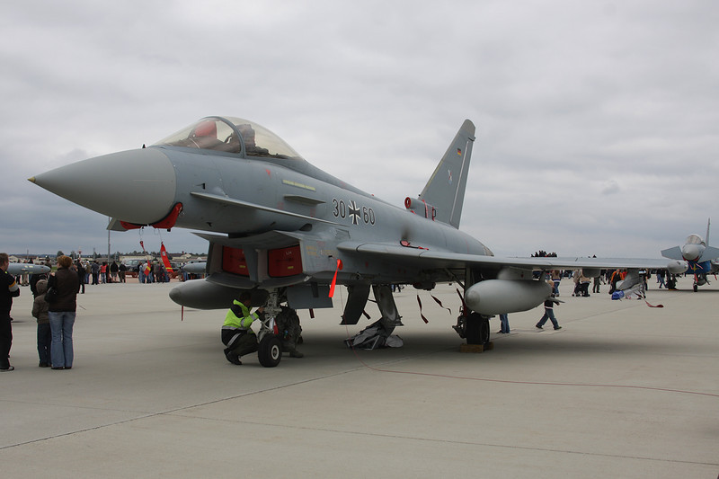 "30+60 British Aerospace EFA EF2000 ""German Air Force"" c/n GS043 Spangdahlem/ETAD/SPM 30-07-11 ""TLG31"""