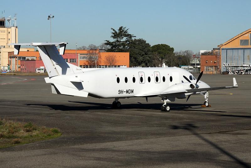 "9H-MDM Beech 1900D "" Medavia""  c/n UE-385 Toulouse-Blagnac/LFBO/TLS 19-01-21"