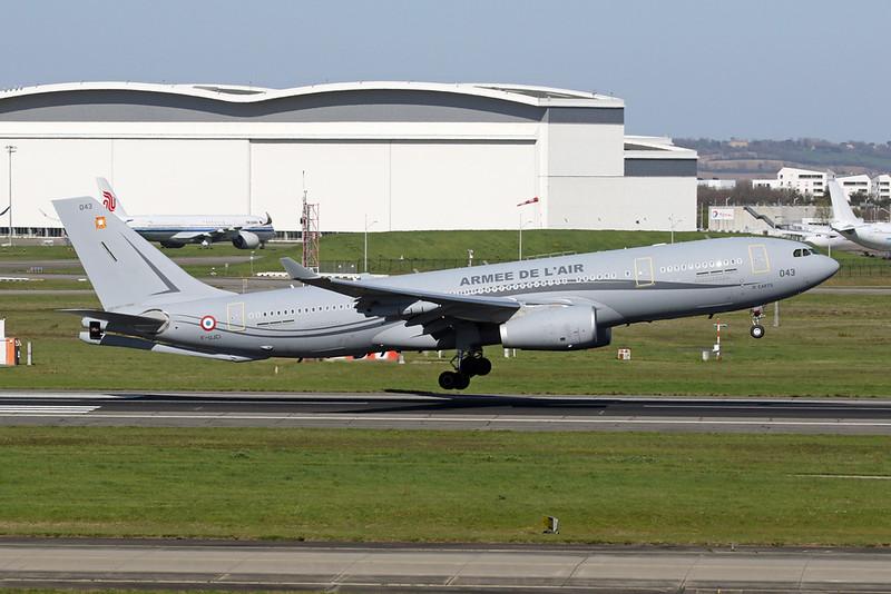 "043 (F-UJCI) Airbus A330-243 MRTT ""French Air Force"" c/n 1916 Toulouse-Blagnac/LFBO/TLS 29-03-21"