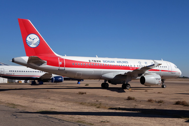 "N368BA (2-TBXH) Airbus A320-212 ""Leasing Company"" c/n 0540 Goodyear/KGYR/GYR 15-11-16 ""Sichuan Airlines"""