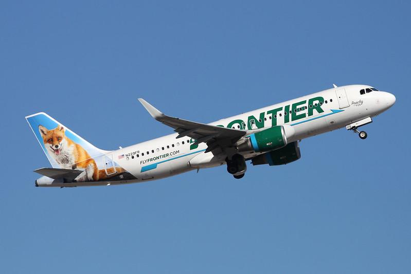"""N229FR Airbus A320-214 c/n 5581 Phoenix-Sky Harbor/KPHX/PHX 15-11-16 """"Peachy the Fox"""""""