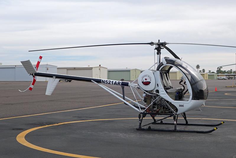 N521AR Schweizer 269C c/n S1785 Mesa-Falcon Field/KFFZ/FFZ 16-11-16