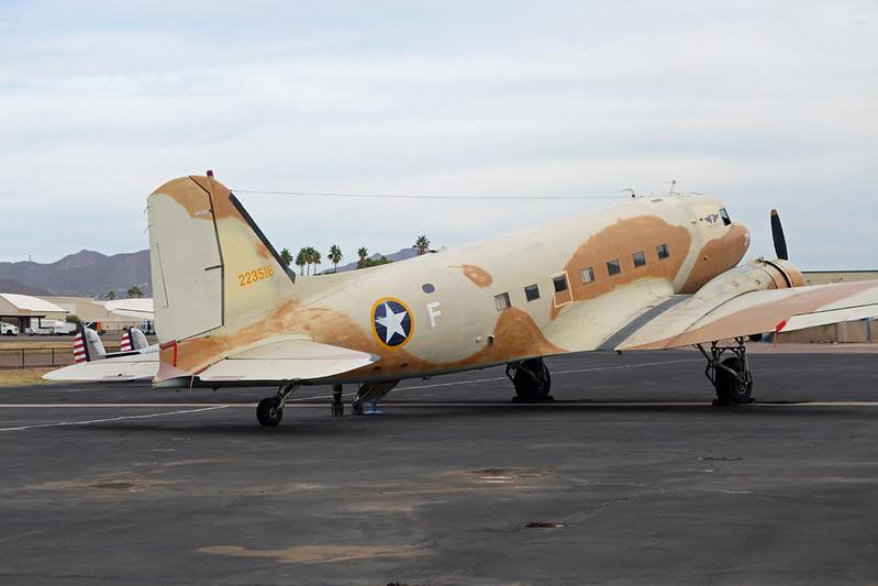 "N147AZ (F) Douglas DC-3 C-47A-20-DL ""Commemorative Air Force"" c/n 9380 Mesa-Falcon Field/KFFZ/FFZ 16-11-16"