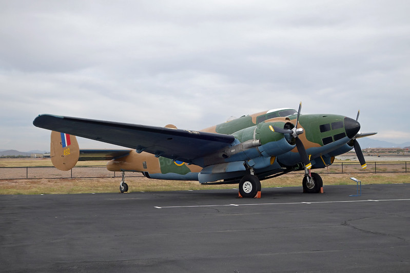 "N86492 (BJ-K/492) Lockheed PV-2 Harpoon ""Commemorative Air Force"" c/n 15-1473 Mesa-Falcon Field/KFFZ/FFZ 16-11-16"