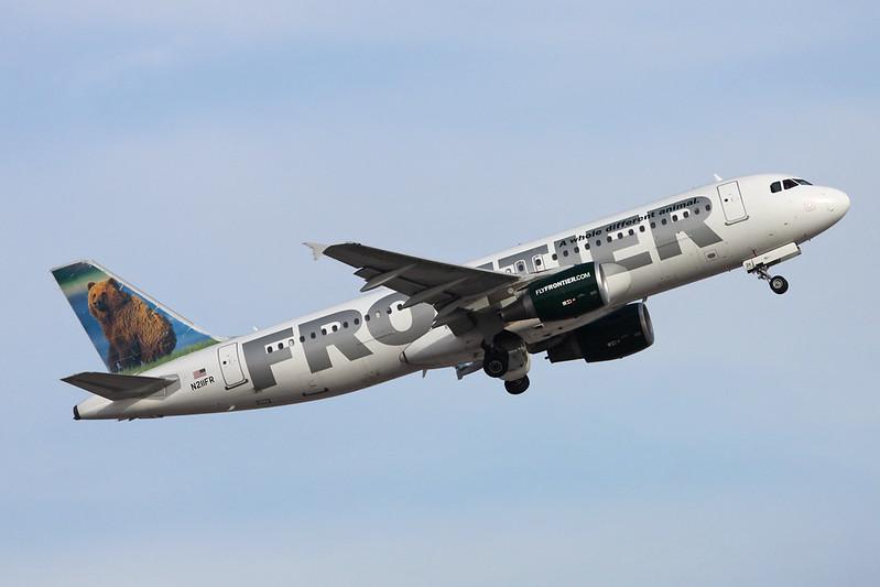 "N211FR Airbus A320-214 c/n 4688 Phoenix-Sky Harbor/KPHX/PHX 16-11-16 ""Grizwald the Grizzly Bear"""