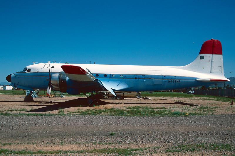 N438NA Douglas SC-54 G-10-DO Skymaster c/n 36031 Mesa - Falcon Field/KFFZ/MSC 14-03-04 (35mm slide)