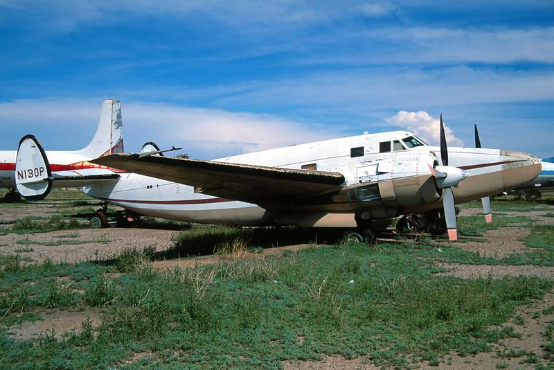 N130P Lockheed Howard 500 c/n 237-5958 Chandler-Memorial 13-03-04 (35mm slide)
