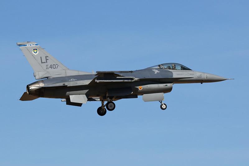 """85-1407 (LF) General Dynamics F-16C Fighting Falcon """"United States Air Force"""" c/n 5C-187 Luke/KLUF/LUF 31-01-18"""