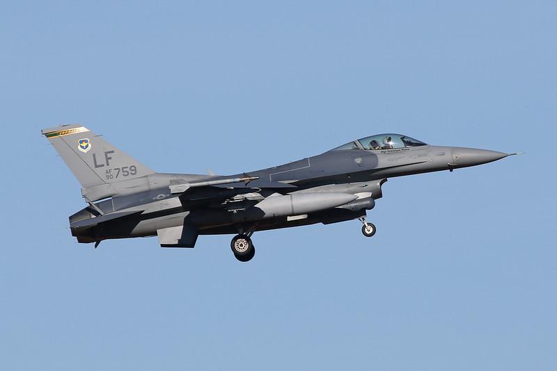 """90-0759 (LF) General Dynamics F-16CG Fighting Falcon """"United States Air Force"""" c/n 1C-367 Luke/KLUF/LUF 31-01-18"""