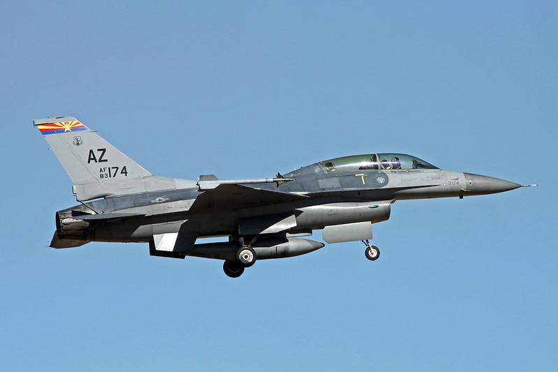 "83-1174 (AZ) General Dynamics F-16D Fighting Falcon ""United States Air Force"" c/n 5D-1 Tucson IAP/KTUS/TUS 14-11-16"