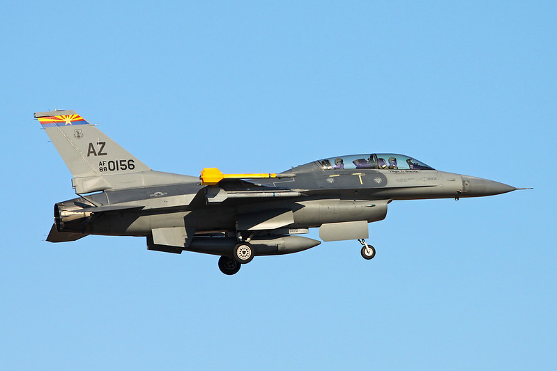 "88-0156 (AZ) General Dynamics F-16DG Fighting Falcon ""United States Air Force"" c/n 1D-10 Tucson IAP/KTUS/TUS 14-11-16"