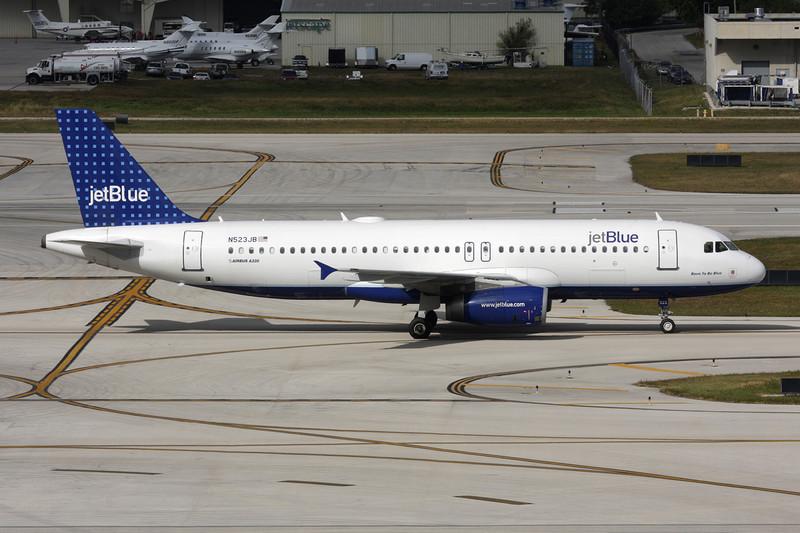 "N523JB Airbus A320-232 c/n 1506 Fort Lauderdale-International/KFLL/FLL 06-12-08 ""Dots"""