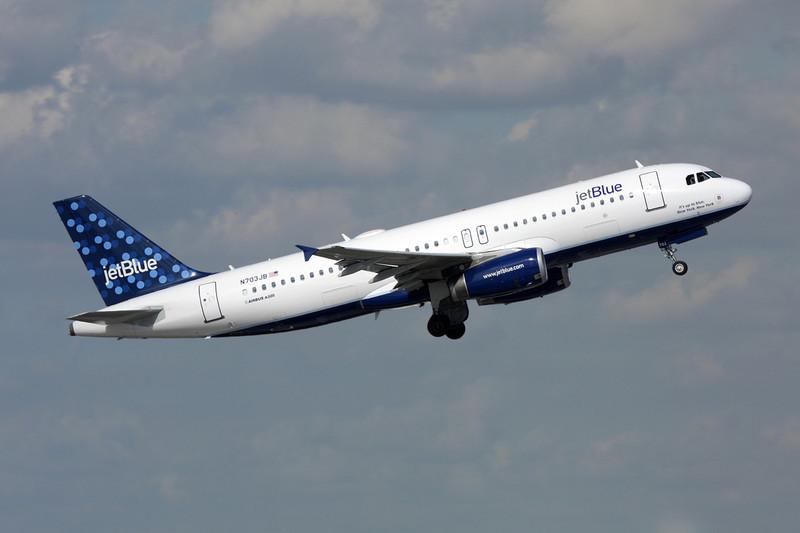 "N703JB Airbus A320-232 c/n 3381 Fort Lauderdale-International/KFLL/FLL 06-12-08 ""Bubbles"""