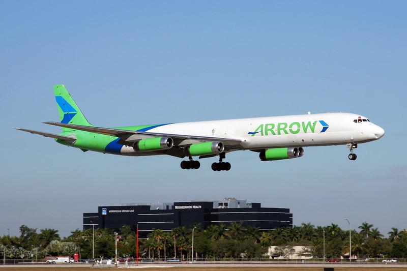 """N784AL Douglas DC-8-63CF """"Arrow Air"""" c/n 46135 Miami/KMIA/MIA 04-12-08"""