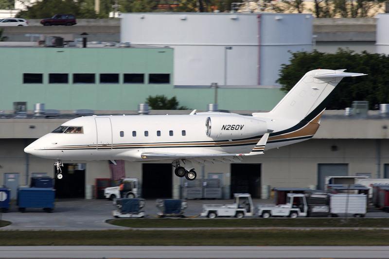 N260V Bombardier 600S Challenger c/n 1022 Fort Lauderdale-International/KFLL/FLL 06-12-08