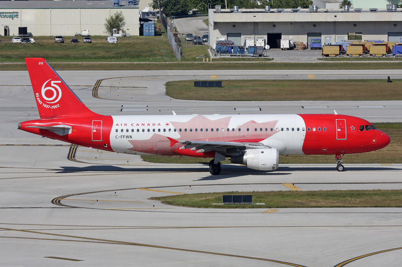 """C-FFWN Airbus A320-211 c/n 0159 Fort Lauderdale - International/KFLL/FLL 02-12-08 """"Symphony of Voices - 65 Years"""""""