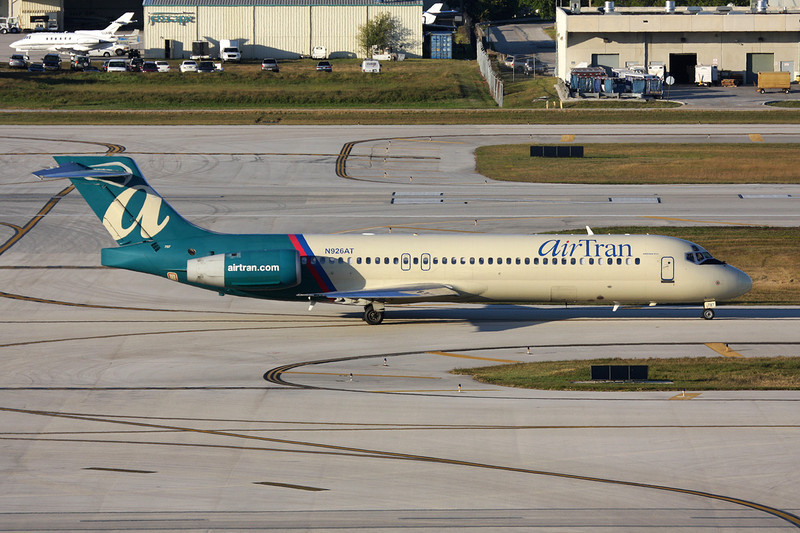 """N926AT Boeing 717-231 """"AirTran Airways"""" c/n 55078 Fort Lauderdale-International/KFLL/FLL 02-12-08"""