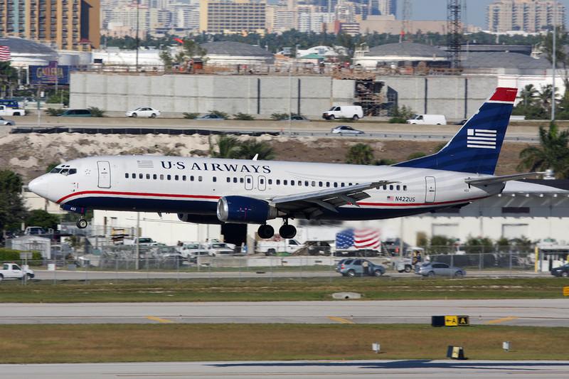 N422US Boeing 737-401 c/n 23989 Fort Lauderdale-International/KFLL/FLL 02-12-08