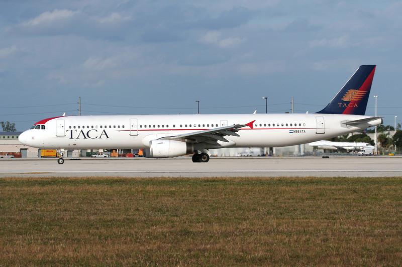 N564TA Airbus A321-231 c/n 2862 Miami/KMIA/MIA 04-12-08