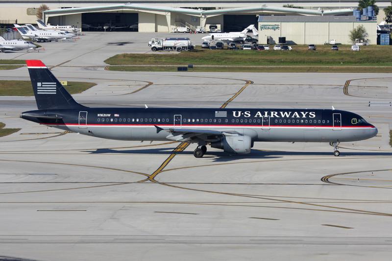 N162UW Airbus A321-211 c/n 1412 Fort Lauderdale-International/KFLL/FLL 02-12-08