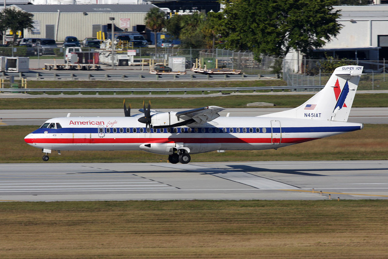 N451AT Aerospatiale ATR-72-212 c/n 451 Fort Lauderdale-International/KFLL/FLL 02-12-08