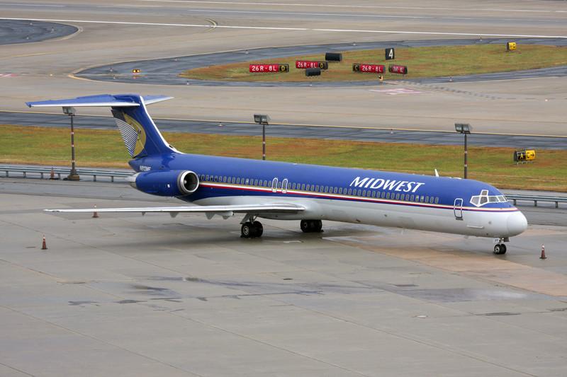 """N813ME Douglas MD-81 """"Midwest Airlines"""" c/n 48007 Atlanta-Hartsfield/KATL/ATL 30-11-08"""