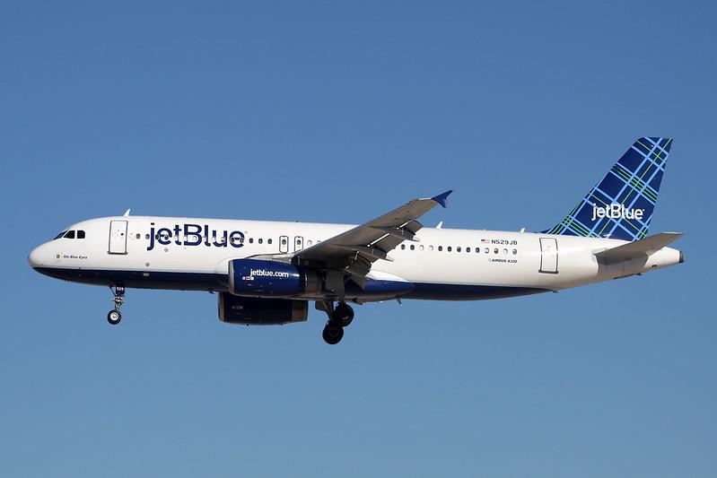 """N529JB Airbus A320-232 c/n 1610 Las Vegas-McCarran/KLAS/LAS 13-11-16 """"Tartan"""""""