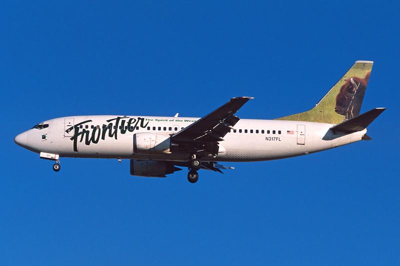 """N317FL Boeing 737-36EF c/n 25263 Las Vegas/KLAS/LAS 10-03-04 """"Bison"""" (35mm slide)"""