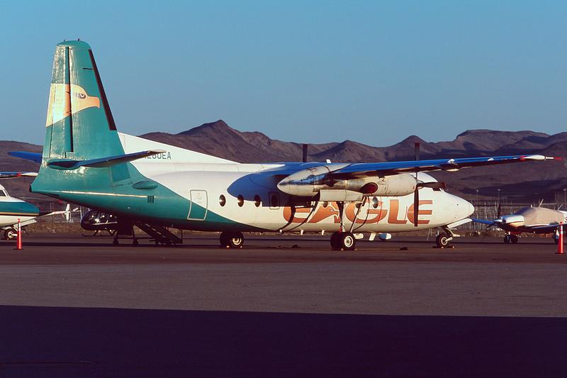 """N280EA Fokker F-27-600 Friendship """"Eagle Canyon Air"""" c/n 10394 Boulder City/KBLD/BLD 11-03-04 (35mm slide)"""