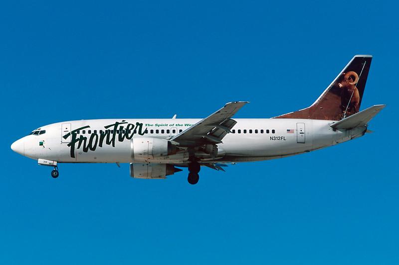 """N312FL Boeing 737-3L9 c/n 24569 Las Vegas - McCarran/KLAS/LAS 11-03-04 """"Mountain Ram"""" (35mm slide)"""