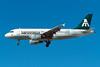"""N866MX Airbus A319-112 """"Mexicana"""" c/n 1866 Las Vegas - McCarran/KLAS/LAS 11-03-04 (35mm slide)"""