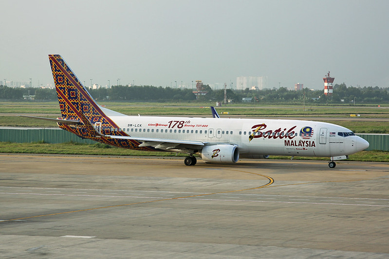 "9M-LCK Boeing 737-800 ""Batik Air Malaysia"" c/n 38318 Ho Chi Minh City/VVTS/SGN 08-12-17"