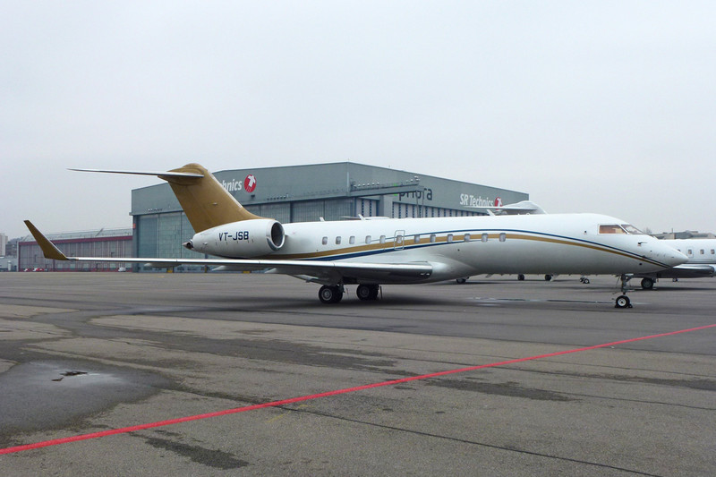 VT-JSB Bombardier BD-700-1A10 Global Express c/n 9114 Zurich/LSZH/ZRH 26-01-12