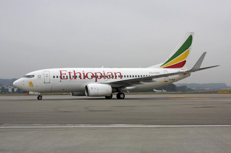 """ET-ALN Boeing 737-760 """"Ethiopian Airlines"""" c/n 33766 Zurich/LSZH/ZRH 26-01-12"""