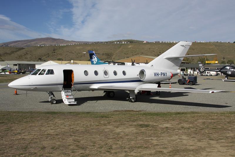 VH-PNY Dassault Falcon 20F-5 c/n 357 Wanaka/NZWF/WKA 08-04-12