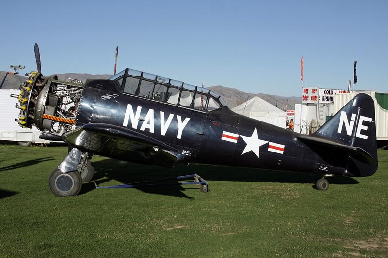 "ZK-ENE (NE) North American AT-6D Harvard III ""United States Navy"" c/n 88-14672 Wanaka/NZWF/WKA 06-04-12"