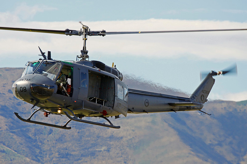 """NZ3808 (08) Bell Helicopters UH-1H Iroquois """"Royal New Zealand Air Force"""" c/n 11707 Wanaka/NZWF/WKA 08-04-12"""