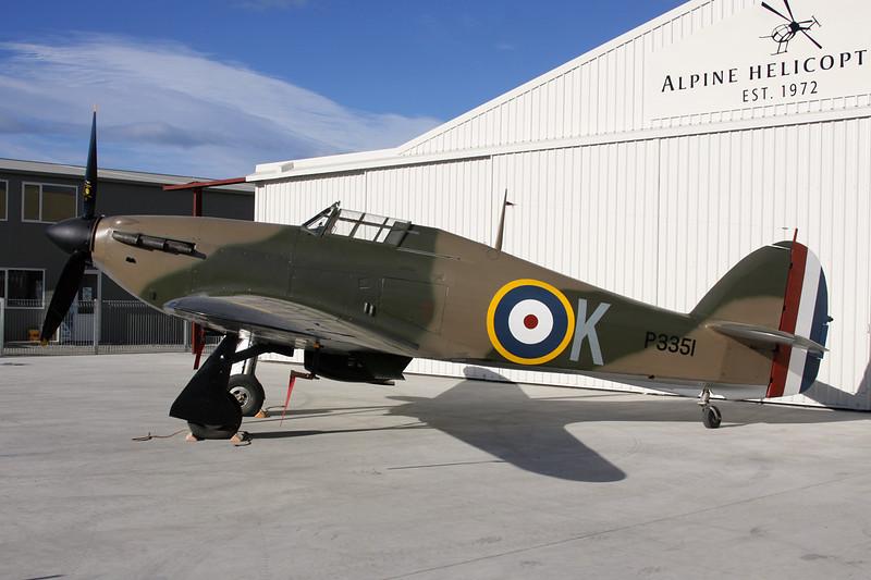 ZK-TPK (P3351/K) Hawker Hurricane IIa c/n P3351 Wanaka/NZWF/WKA 08-04-12